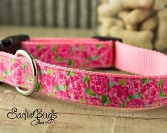 Rose dog collar - Spring and Summer