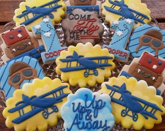 Vintage Airplane Cookies