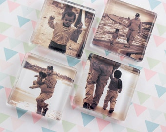 Photo Magnets Personalized Square Glass Custom Magnets