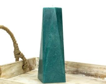 Teal Pillar Candle - Large - 9' Tall - Octagon - Home Decor