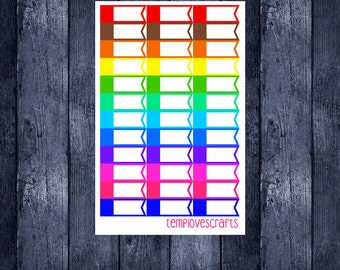36 Bold Rainbow Appointment Flag stickers for erin condren life planner