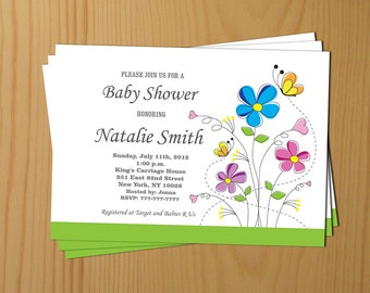 Baby Shower Invitations Gender Neutral Baby Shower Invitation Boy Girl Baby Shower Invitation - FREE Thank You card (f1)