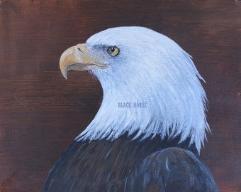 Bald Eagle/Digital file/Painting to download/JPG/Art for download/