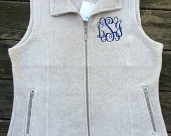 Women's Micro Fleece Vest-monogrammed, personalized, bridesmaids, gifts, monogram