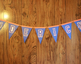 Mets Name Banner, Customized Sports Banner