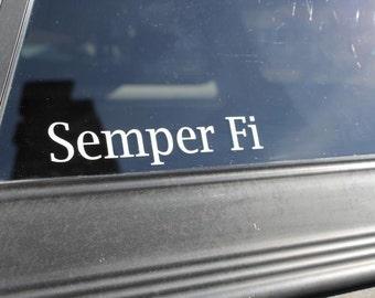 Semper fi decal, semper fi sticker, semper fi vinyl decal, marine decal, marine sticker, military decal, semper fi marine decal