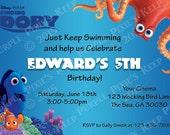 Finding Dory Birthday Invitation