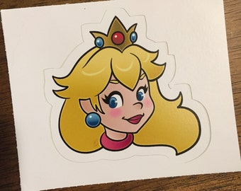 Princess Peach - Original Illustration Sticker