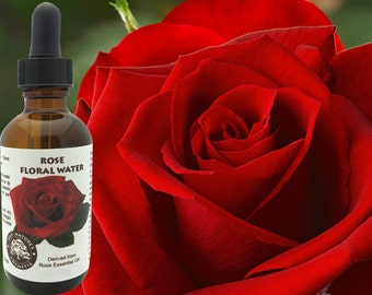 Rose Floral Water (Hydroflorate or Hydrosol) for use in toners, lotions, creams, clay masks after sun spray formulations.