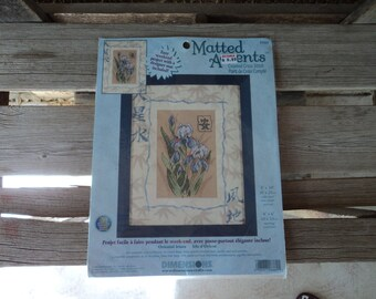 Counted Cross Stitch Kit By: Dimensions Oriental Irises #6869