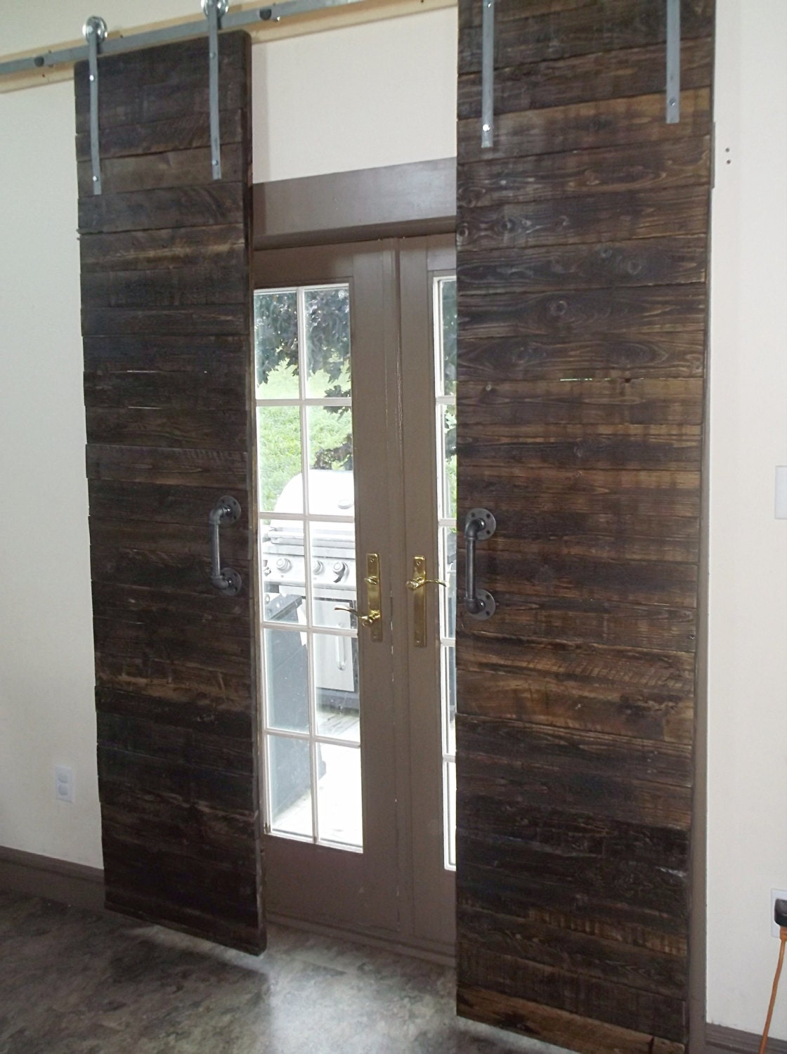 Rustic Barnwood Sliding Barn Doors With Hardware By SameAsNever