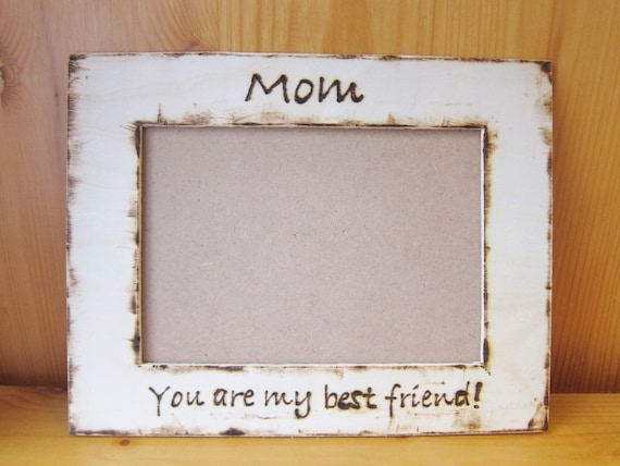 Custom Handwriting Wood Photo Picture Frame for Mom Mum Mothers Day Birthday, Gift From Kids, Wood Burn, Shine Kids Crafts,