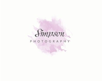 Photography Logo Design - Premade Photographer Logo, Watercolor Logo Design, Photography Business Branding, Creative Logo, Modern Logo