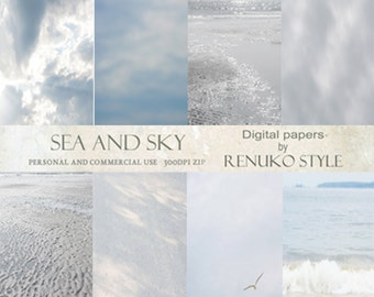 Sea and Sky photoshop textures digital papers scrapbook paper