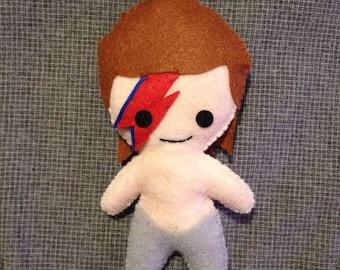 David Bowie (Felt Plushie)