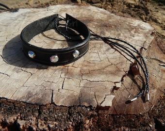 Rhinestoned Northern Star armband