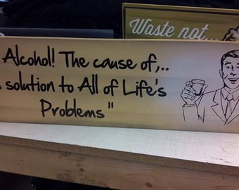 Alcohol! Cause and Solution!