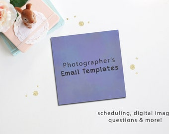 Photographer's Email Templates - Photography Business - Photography Workbook - Instant Download