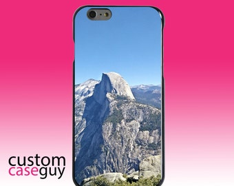 Hard Snap-On Case for Apple 5 5S SE 6 6S 7 Plus - CUSTOM Monogram - Any Colors - Yosemite Half Dome