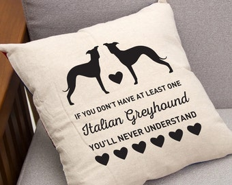 Italian Greyhound, Throw Pillow 16 x 16 Decorative Pillow & Pillow Insert