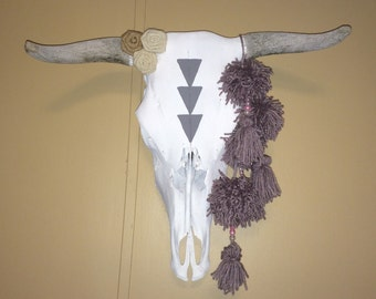 Rough horns Custom Cow Skull