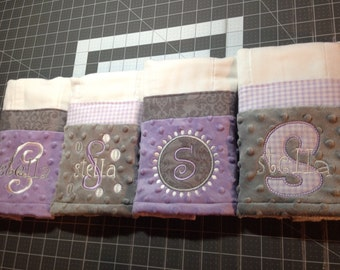 Personalized Burp Cloth - Set of 4