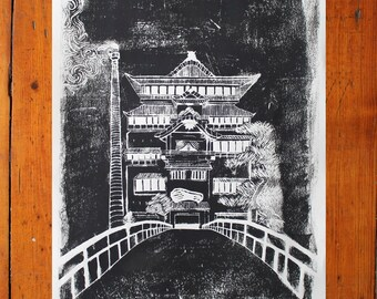 Bathhouse from Spirited Away Poster Print
