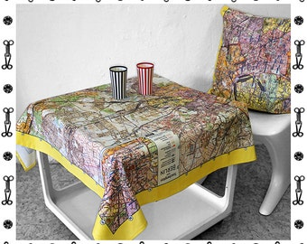 BERLIN MAP Tablecloth, table runner, Vintage, digital print, card, GDR, communism, 1960 years, socialism, Mauerbau, berlin plan