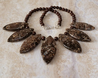 Turritella Agate Necklace