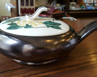 Red Wing 1940's Bronze with Chrysanthemum casserole