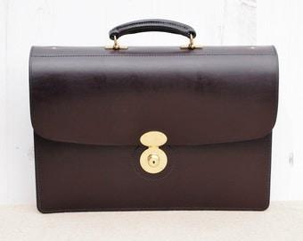 English Bridle Leather Briefcase - Newton Standard Briefcase