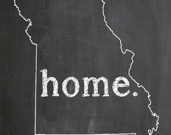 "Missouri HOME STATE PRIDE 2"" x 3"" Fridge Magnet Chalkboard Chalk Country Decor"