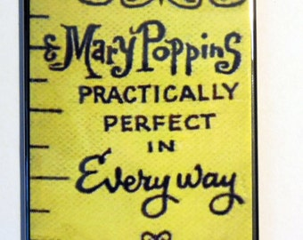 "Mary Poppins PRACTICALLY PREFECT in EVERYWAY 2"" x 3"" Fridge Magnet Art Nostalgic"