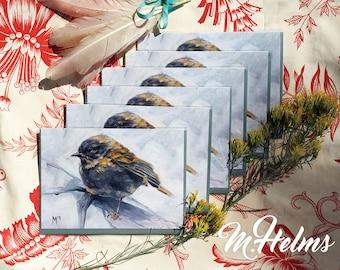 Note Card Set: Warbler (White)