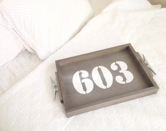 Personalized Area Code Tray - Home area code, Home gift, personalized gift, hometown gift