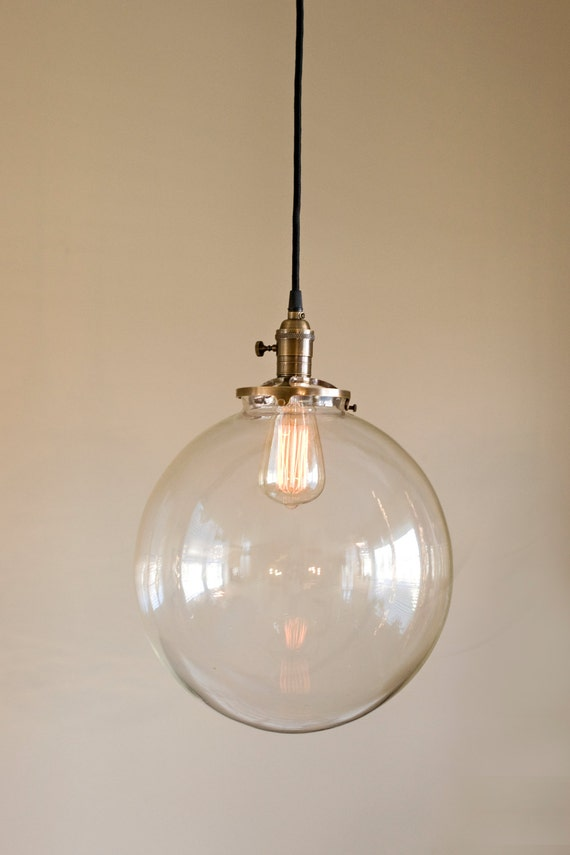 hanging pendant light fixture with 12 glass globe shade. Black Bedroom Furniture Sets. Home Design Ideas