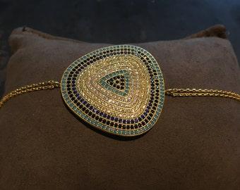Gold Plated Evil Eye Chain Bracelet