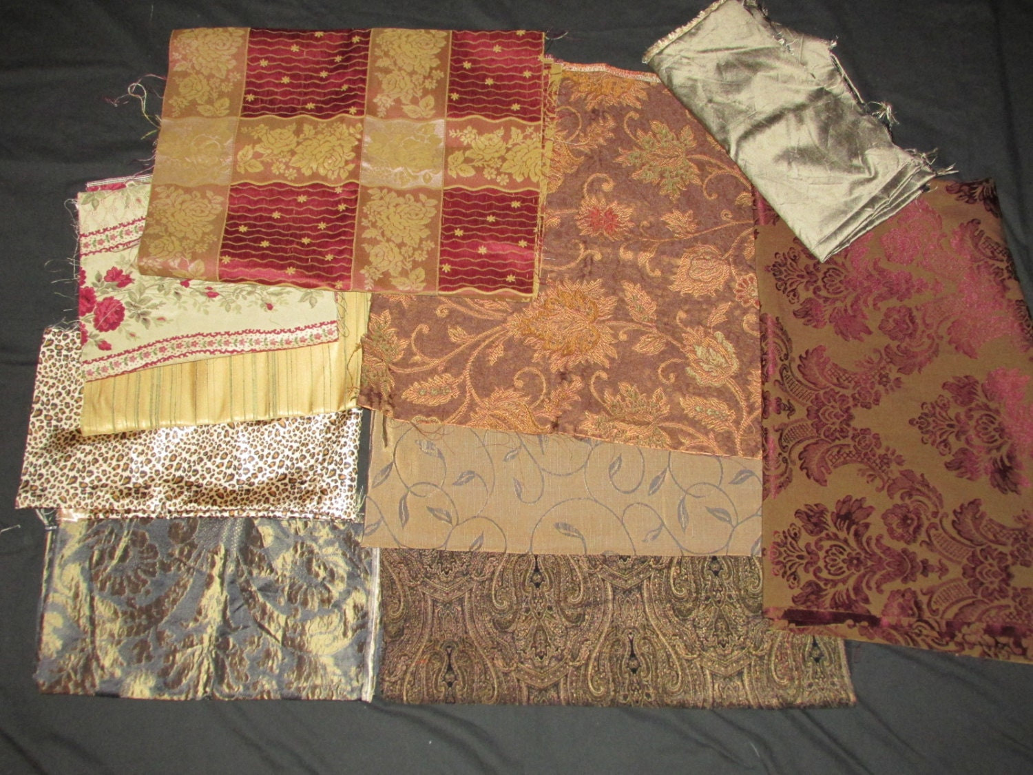 Group of 10 assorted fabric remnants pieces for bags for Fabric remnants