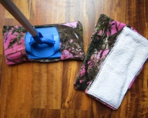 Reusable mop/duster sets in pink camo