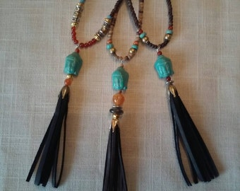 Buddha Necklaces with Tassels