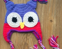 Baby Crochet Owl Hat Baby Crochet Hat Baby Photography Prop