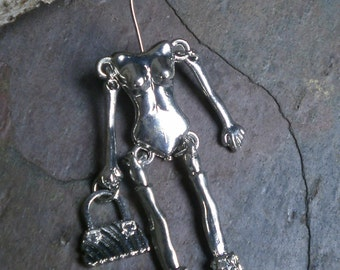 Doll Setup in Silver Style 4 Skeleton With Handbag