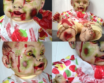 Adorable ZOMBIE Baby Doll, OOAK