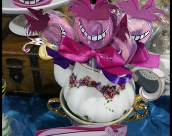 Instant Download Alice in Wonderland inspired Cheshire Cat Grins and Hair/Ear Toppers
