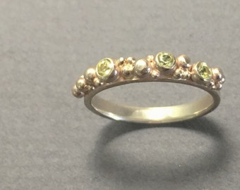 yellow sapphire bubble ring