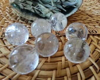 Clear Quartz Sphere ~ One Reiki infused crystal ball, marble approx 26-28mm