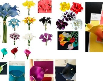 10stems of Real Touch Calla lily Loose stems-Create your own bouquet,boutonniere,corsages,centerpieces.