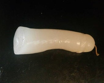 WHITE PENIS CANDLE: Hoodoo, Voodoo, Candles, Vigil, Prayer, Novena, Phallic