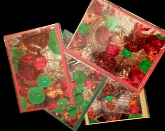 Set of 4 Christmas photo cards