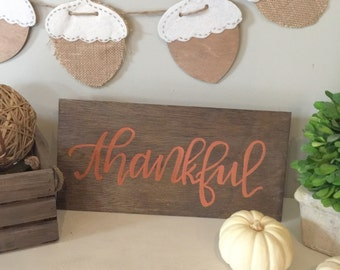 Fall Harvest Thanksgiving Sign - Thankful Board